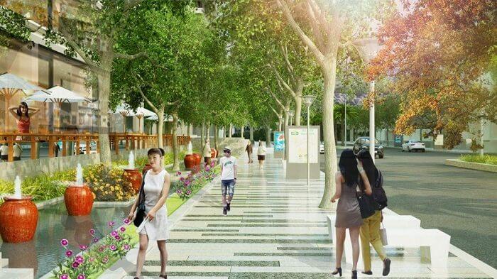 Đường dạo bộ Golden Park Tower