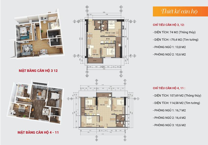 Thiết kế căn hộ 3-4-11-12
