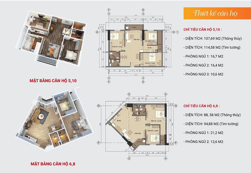 Thiết kế căn hộ 5-6-8-10