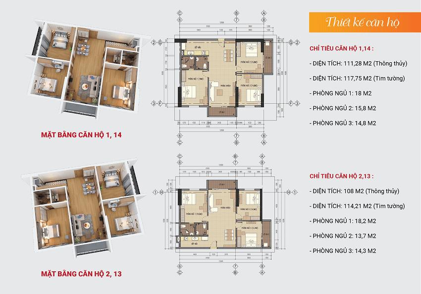 Thiết kế căn hộ 1-2-13-14