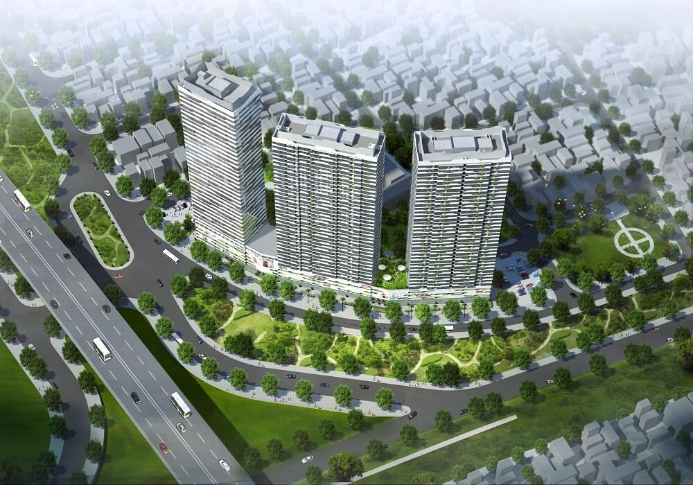 Phối cảnh dự án Intracom Vĩnh Ngọc - Đông Anh