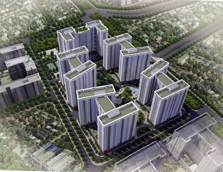 Chung cư Ecohome 3 với hơn 3000 căn hộ