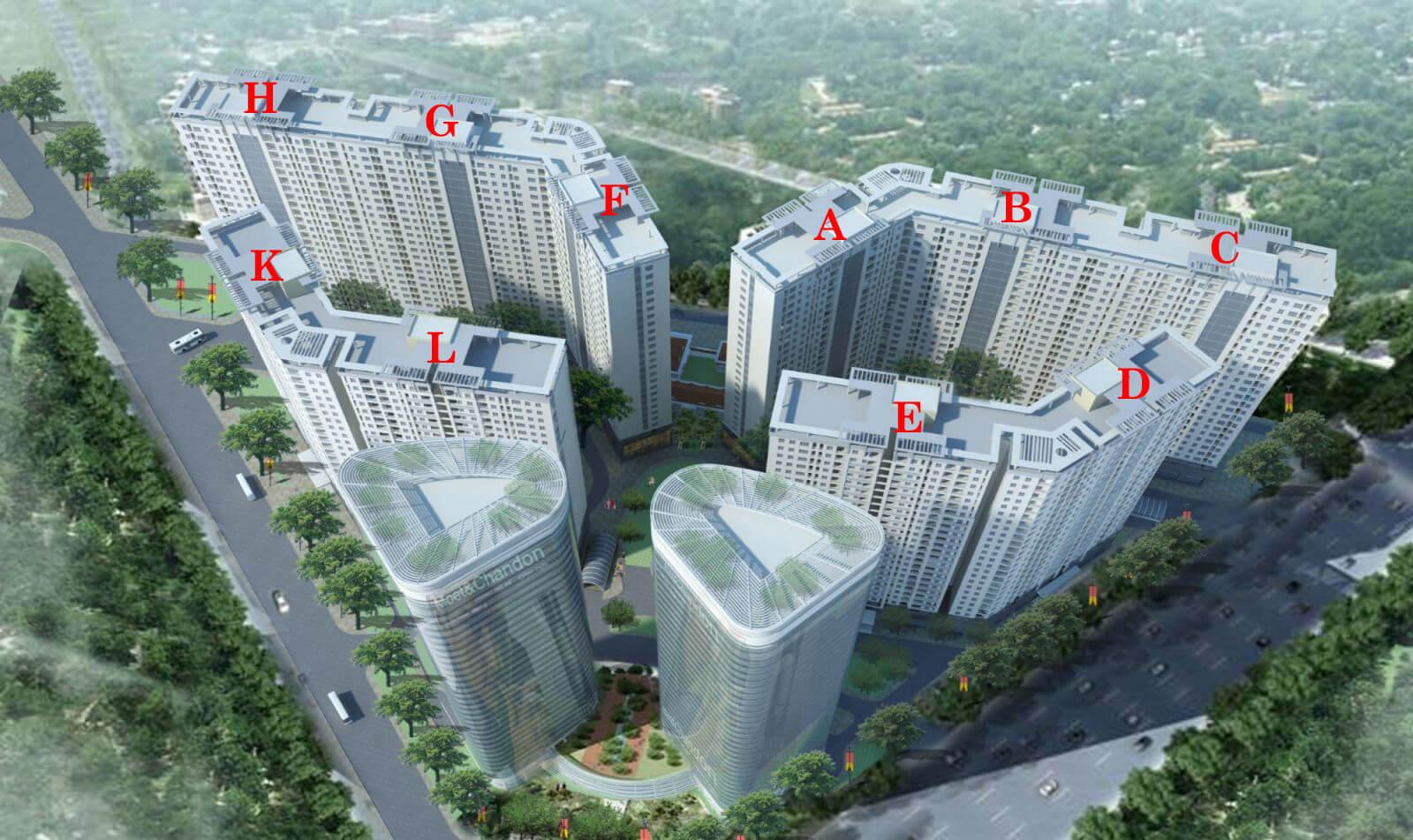 Phối cảnh tổng thể chung cư Xuân Mai Complex