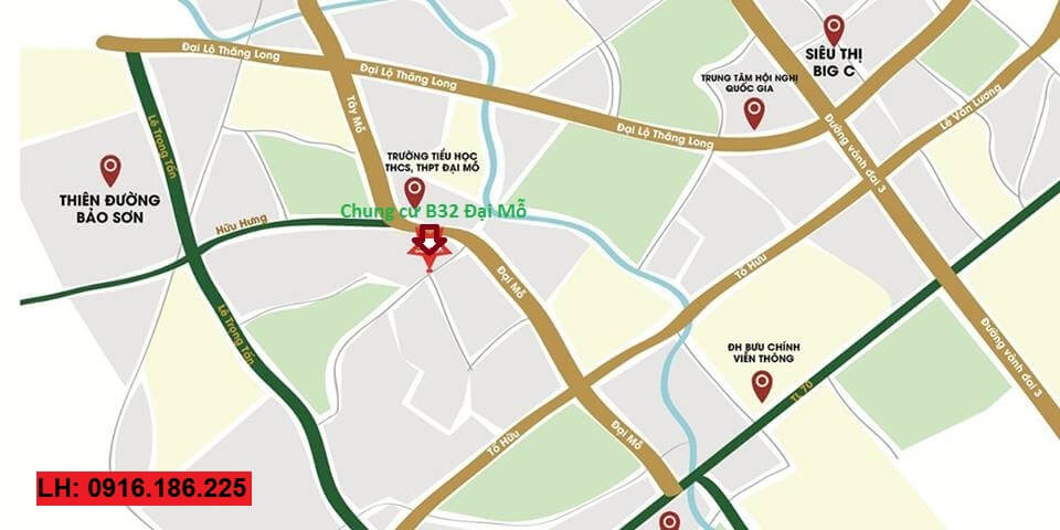 Vị trí dự án Thăng Long City - B32 Đại Mỗ