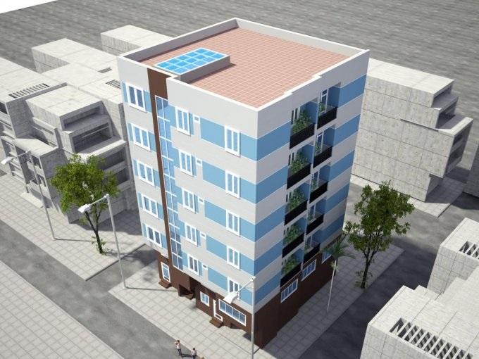 Phối cảnh công trình chung cư mini Khương Trung- Thanh Xuân