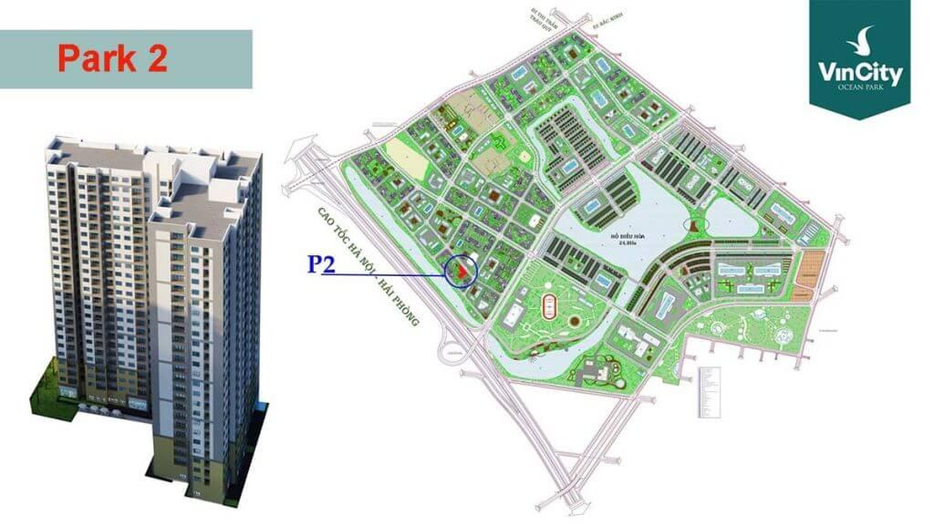 Tòa Park 2 Vincity Ocean Park Gia Lâm