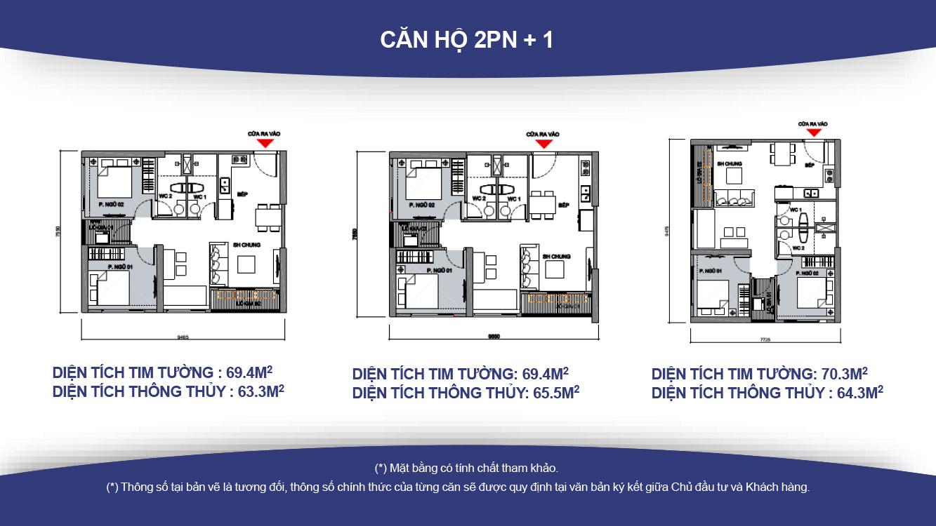 Thiết kế căn hộ 2PN-2WC
