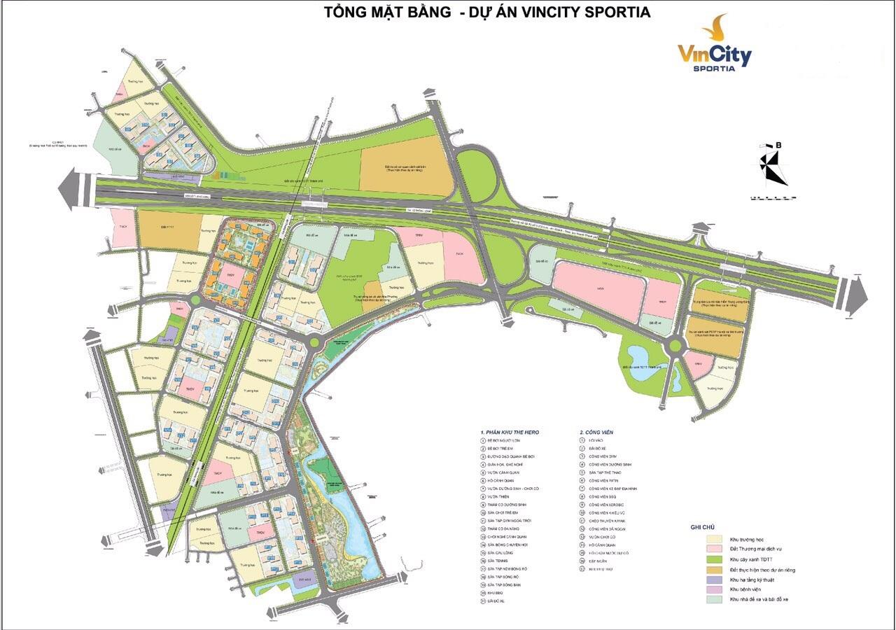 Mặt bằng tổng thể dự án Vincity Sportia Tây Mỗ