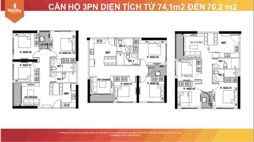 Thiết kế căn hộ 3PN