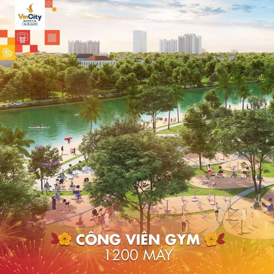 Công viên gym hàng đầu Đông Nam Á tại dự án Vincity Sportia