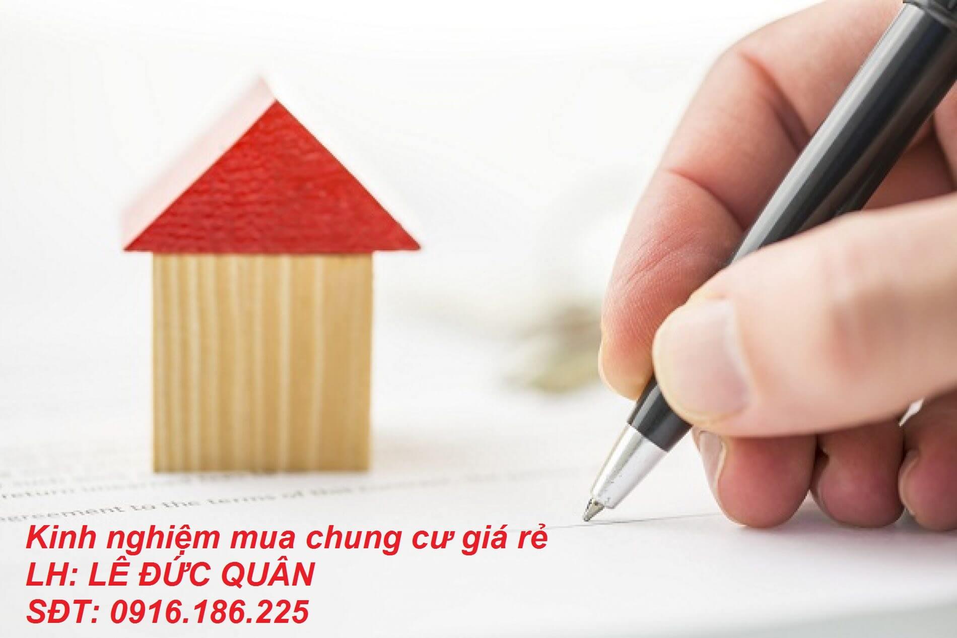 Kinh nghiệm mua chung cư giá rẻ an toàn nhất