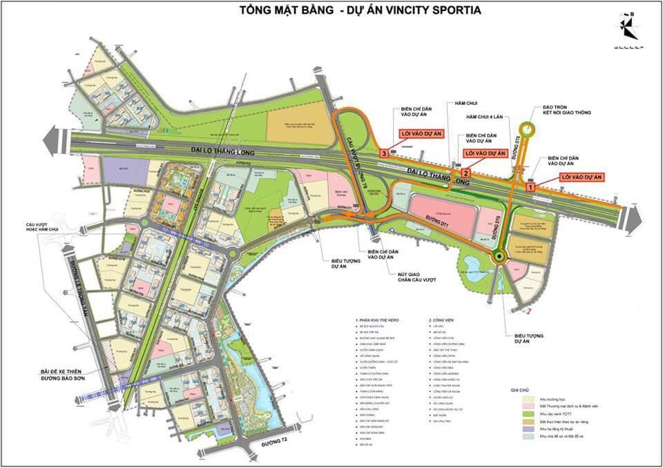 Mặt bằng tổng thể dự án VinCity Sportia