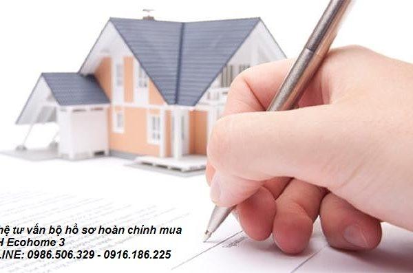 Hồ sơ mua nhà ở xã hội Ecohome 3 gồm những gì?