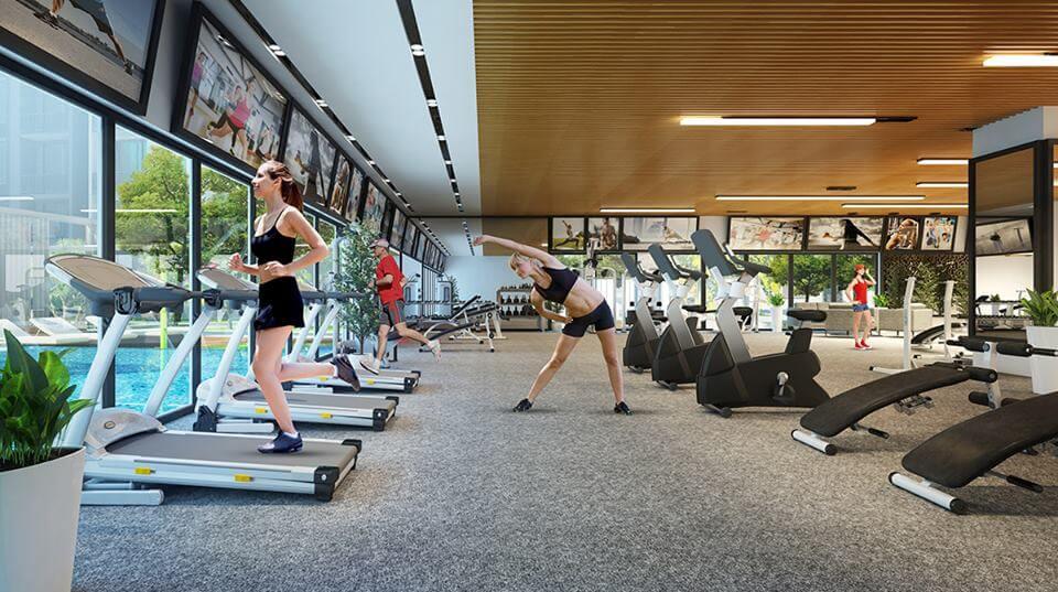 Phòng Gym ngay tại dự án