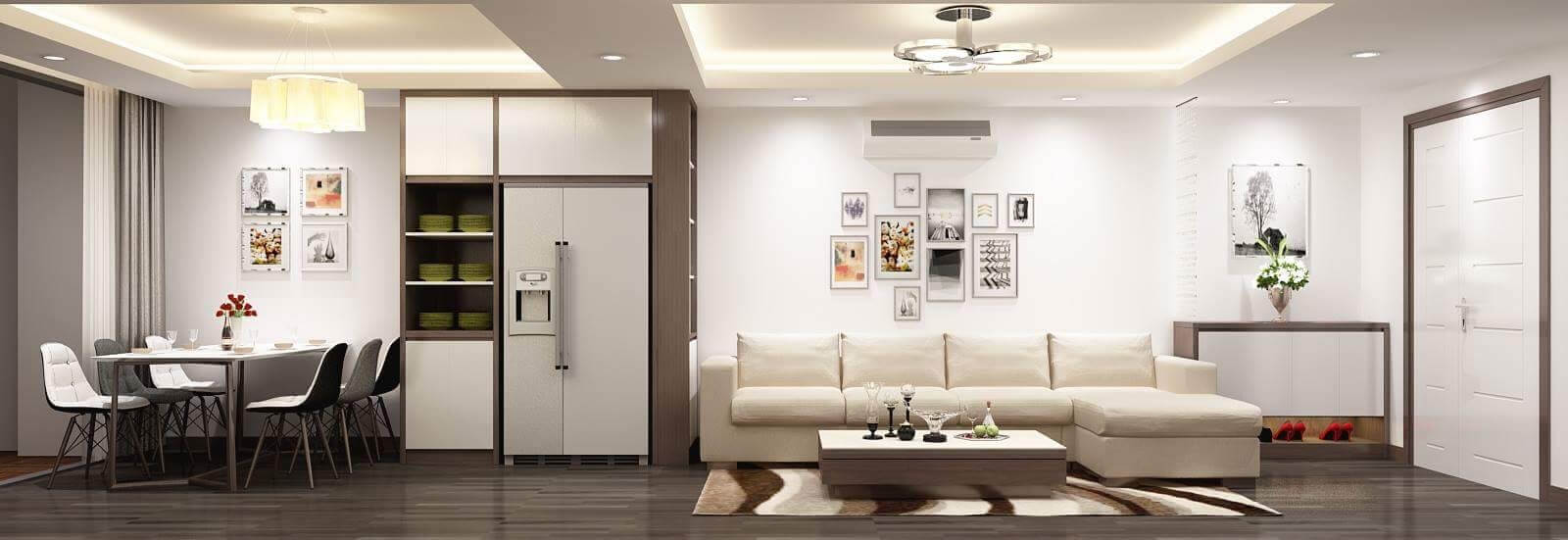 Thiết kế căn hộ hiện đại và đầy đủ tiện nghi
