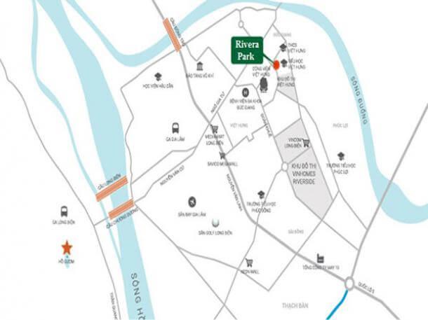 Vị trí dự án Rivera Park Long Biên