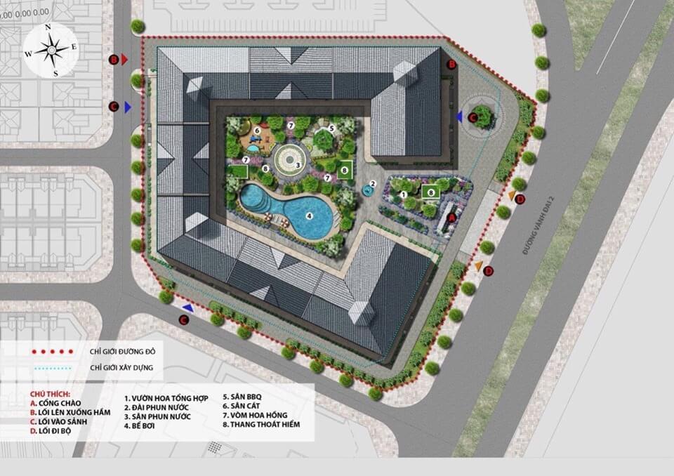 Tiện ích nội khu dự án Officetel Tây Hồ