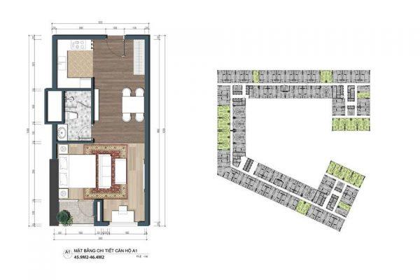 Thiết kế căn hộ 1PN
