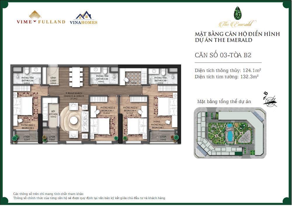 Thiết kế căn hộ 132m2