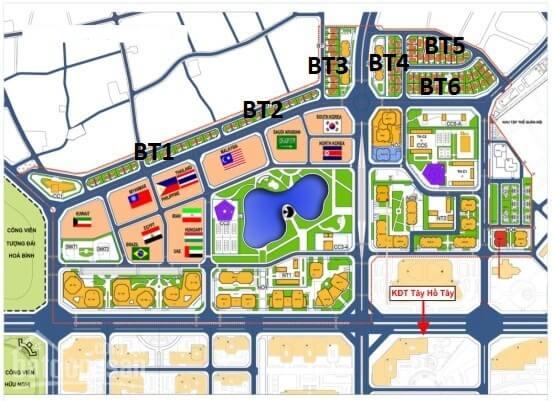 Khu vực xây dựng 13 đại sứ quán