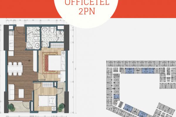 Thiết kế căn hộ 2PN Officetel Ciputra Tây Hồ