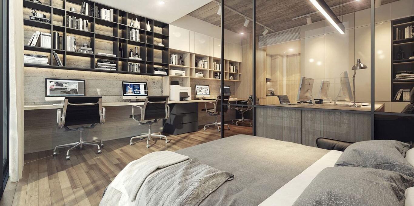 Thiết kế hiện đại và tiện dụng của căn hộ Officetel