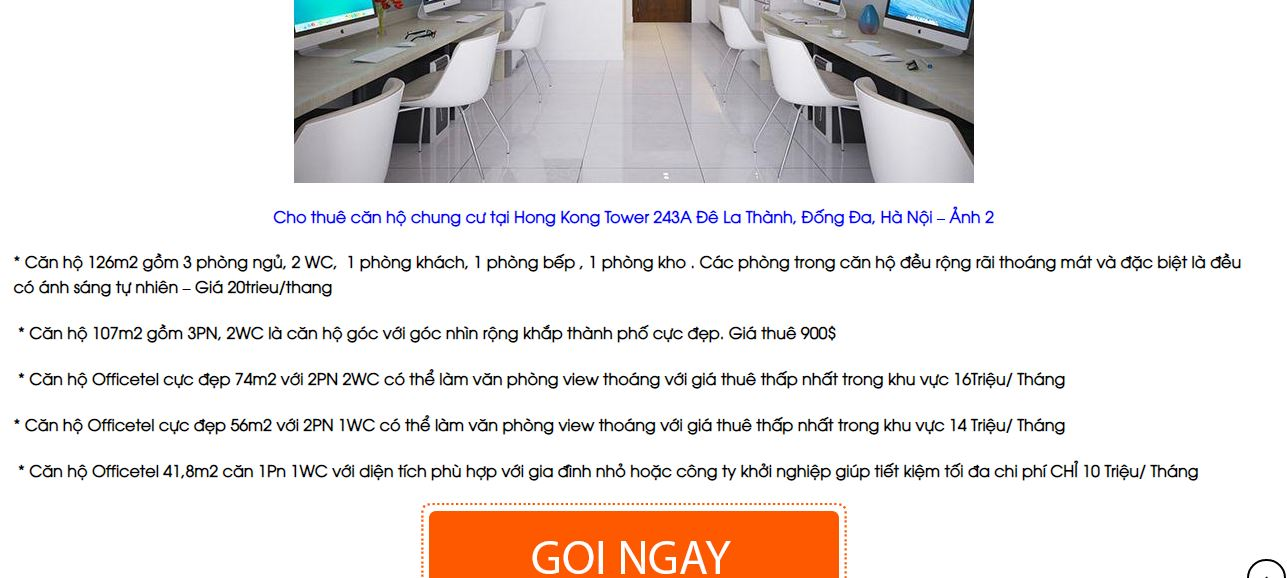 Officetel Hồng Kong Tower
