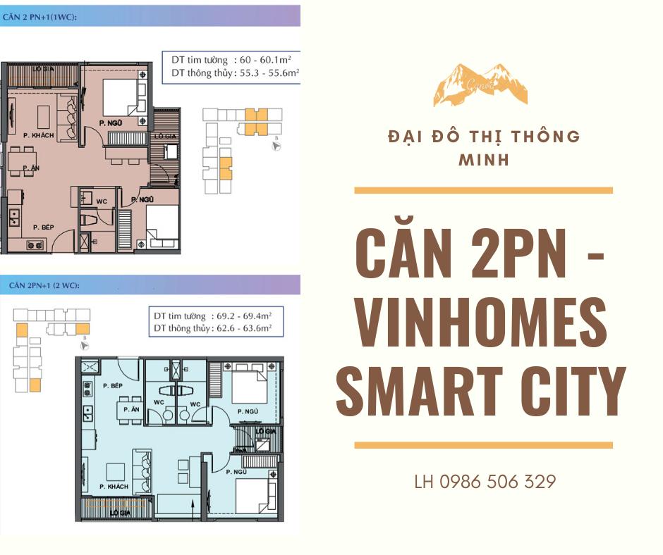 Căn 2 phòng ngủ Vinhomes Smart City được nhiều khách hàng lựa chọn