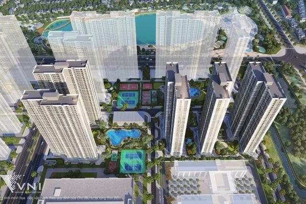 Phối cảnh phân khu Ruby 1 Vinhomes Smart City