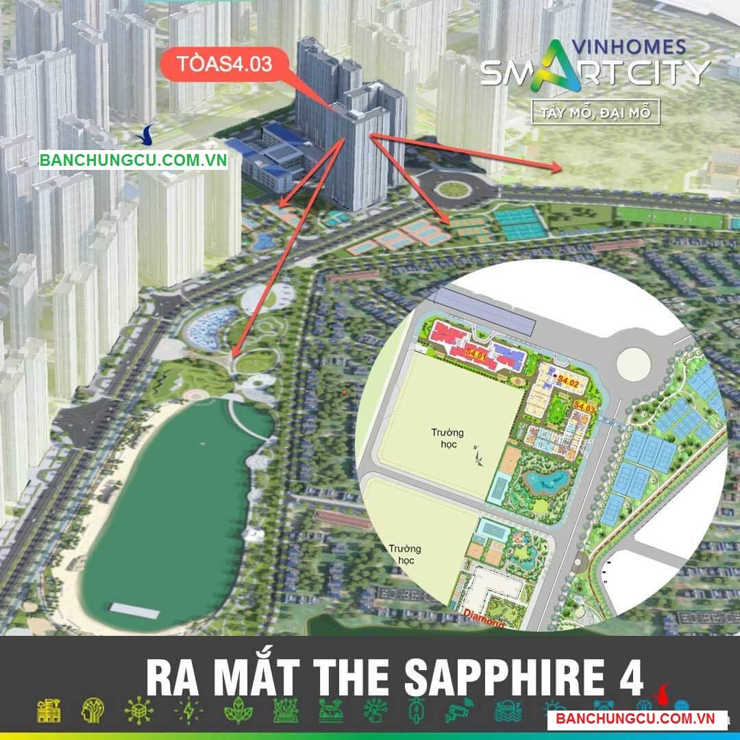 Vị trí tòa S4.03 Vinhomes Smart City