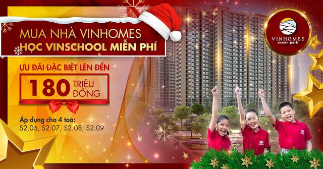 Miễn phí Vinschool cho cư dân Vinhomes Ocean Park