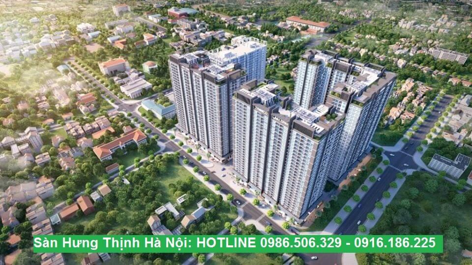 Phối cảnh dự án chung cư Hưng Thịnh- Linh Đàm