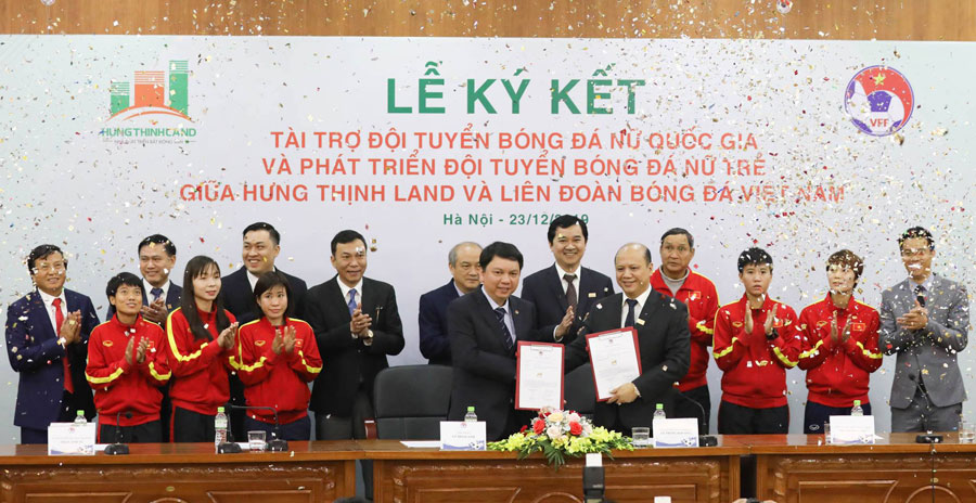 Tập đoàn Hưng Thịnh tài trợ 100 tỷ cho đội tuyển bóng đá nữ Việt Nam
