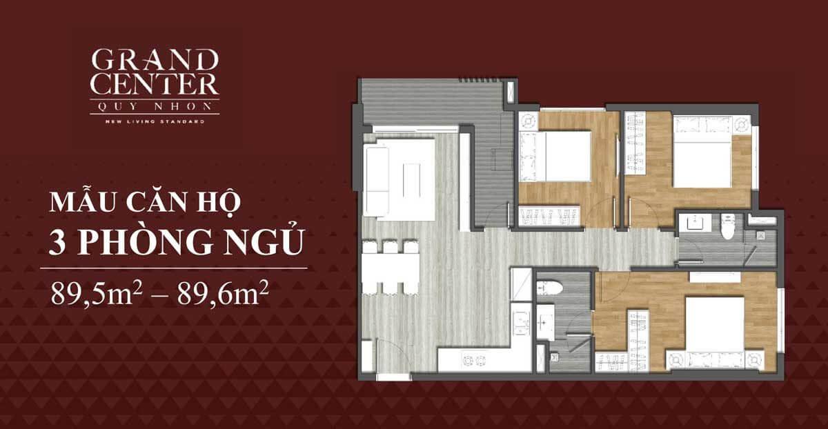 Thiết kế căn 3 phòng ngủ