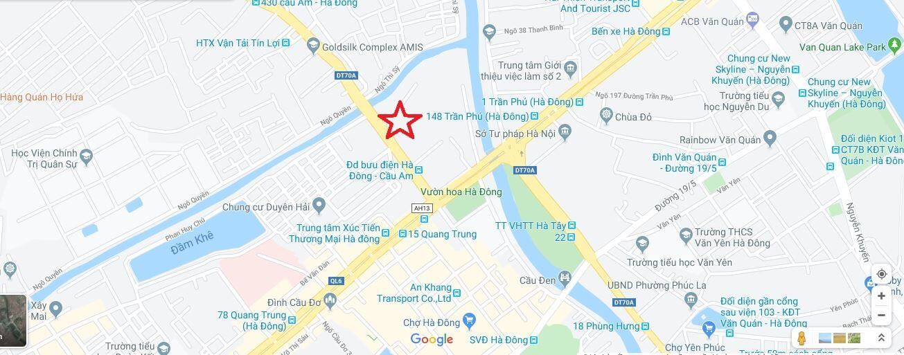 Vị trí dự án Five Star Hà Đông