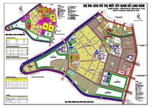 Quy hoạch chi tiết KĐT Tây Nam Linh Đàm
