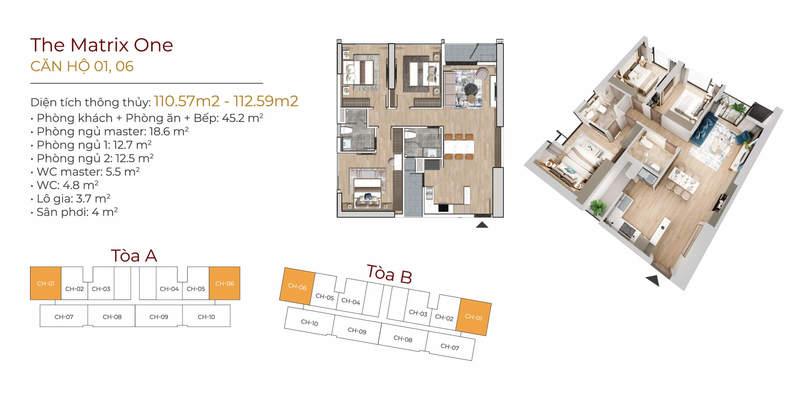 Thiết kế căn hộ 01-06