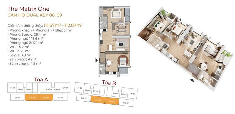 Thiết kế căn hộ Dual-Key