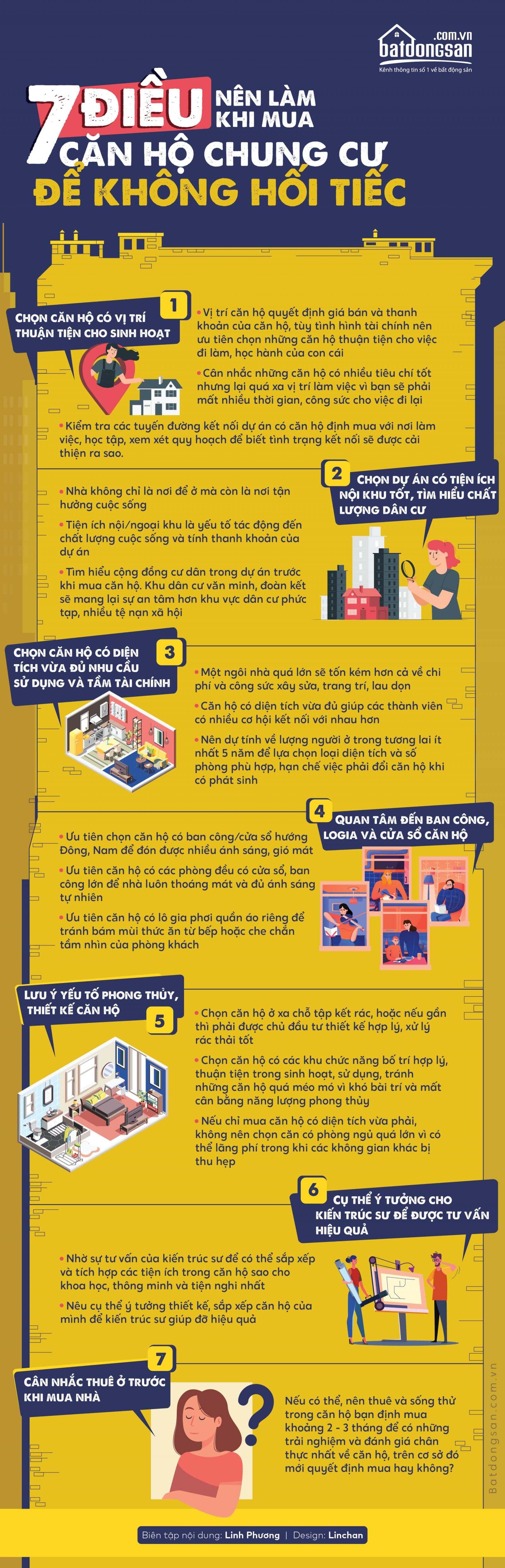 7 lưu ý cần nhớ khi mua chung cư mini
