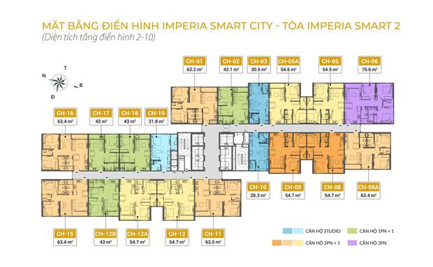 Mặt bằng tòa Imperia Smart City 2