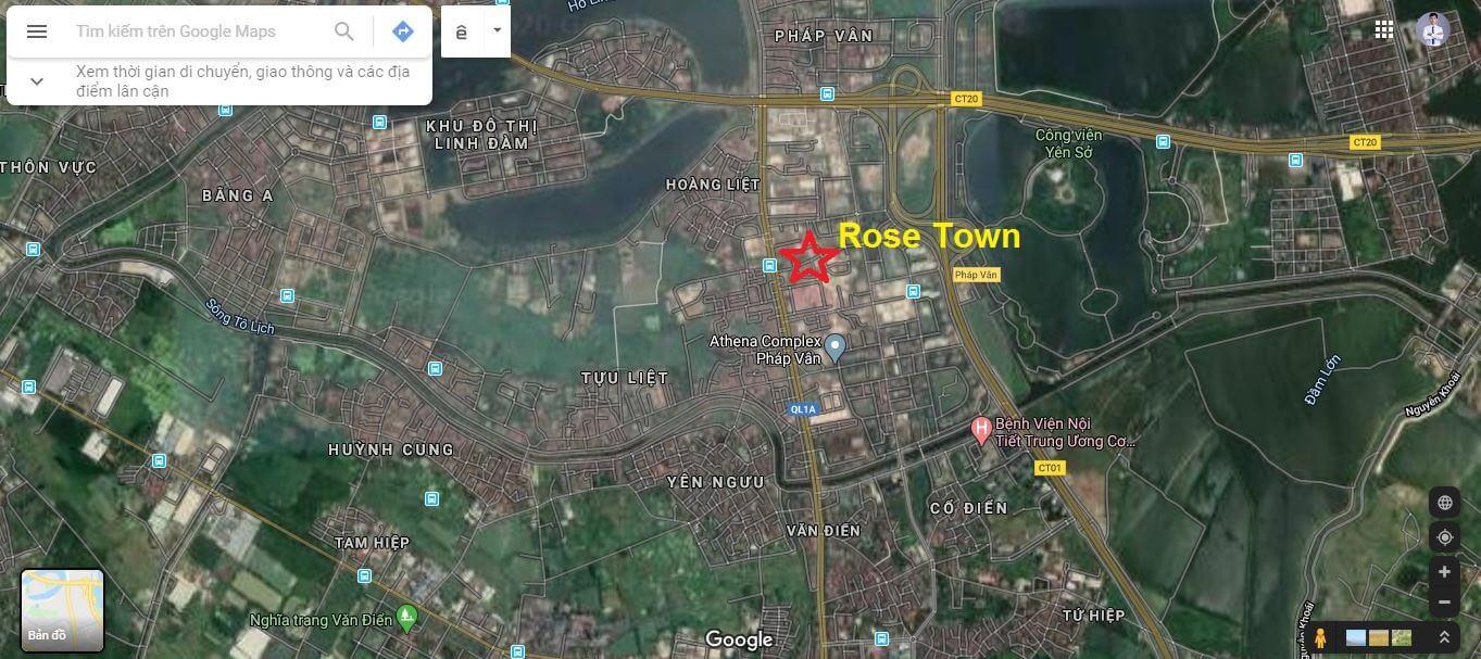Vị trí dự án Rose Town 79 Ngọc Hồi