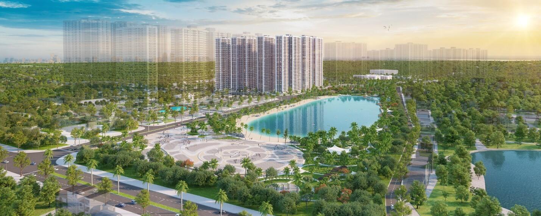 Vị trí kề hồ cận thủy của Imperia Smart City