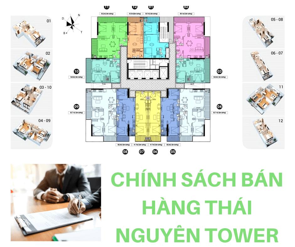 Chính sách bán hàng chung cư Thái Nguyên Tower