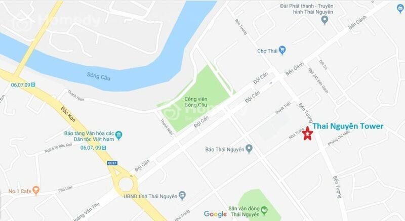 Vị trí dự án Thái Nguyên Tower