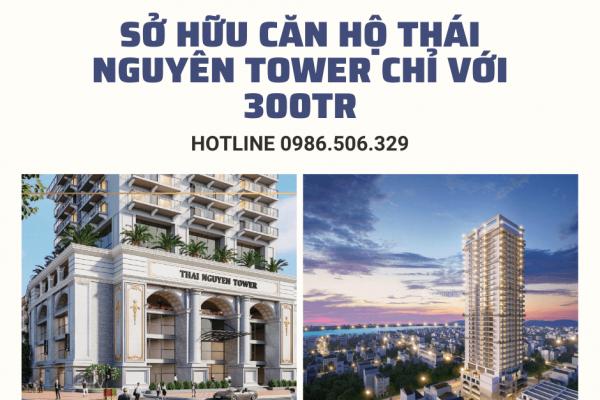 Dễ dàng sở hữu căn hộ Thái Nguyên Tower