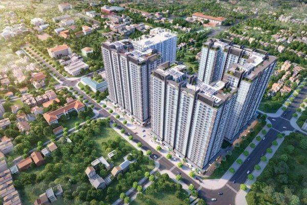 Phối cảnh tổng thể dự án chung cư Hưng Thịnh- Linh Đàm