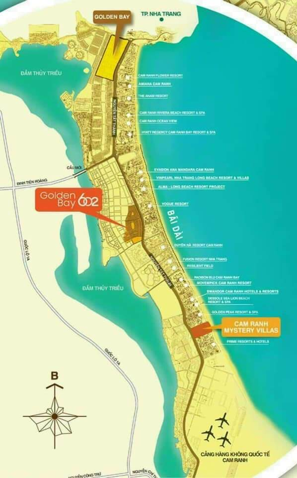 Vị trí dự án Golden Bay và Golden Bay 602