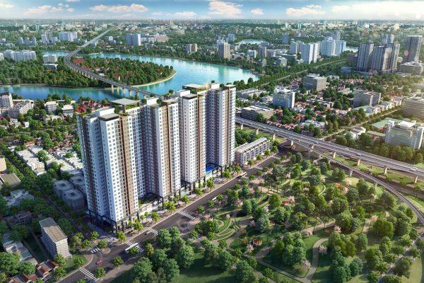 Phối cảnh chung cư Phương Đông Green Park