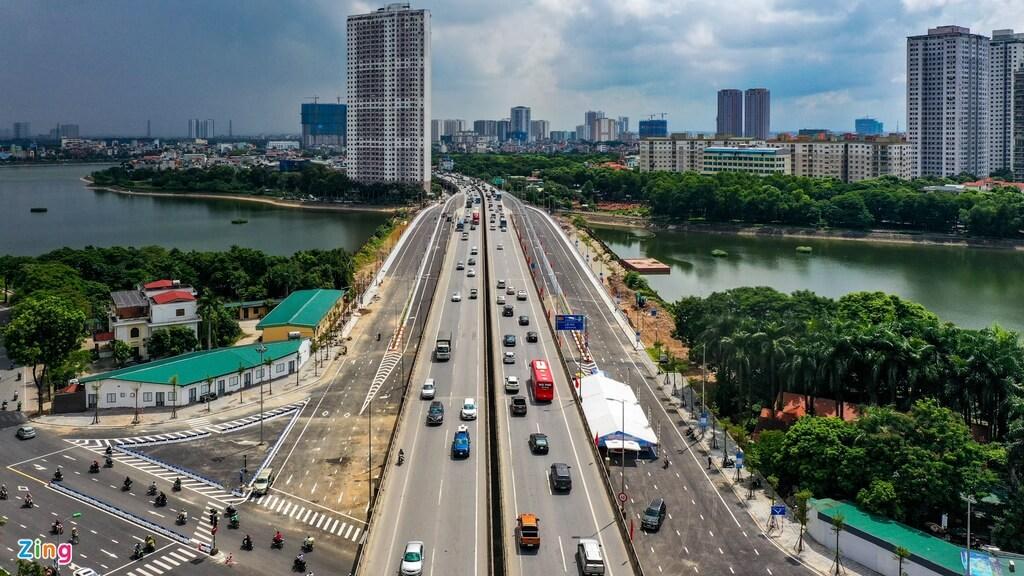 Hạ tầng giao thông khu vực Linh Đàm đã hoàn thiện đồng bộ