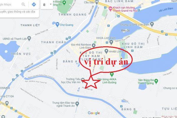 Vị trí dự án chung cư Hưng Thịnh Linh Đàm